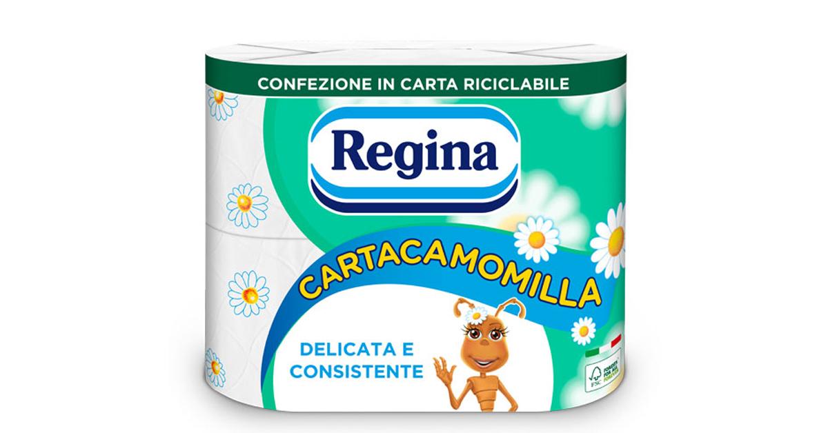 Sofidel's Regina Cartacamomilla changes its look with new paper packaging, Sofidel's Regina Cartacamomilla changes its look with new paper packaging