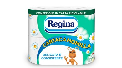 Sofidel's Regina Cartacamomilla changes its look with new paper packaging, Sofidel's Regina Cartacamomilla changes its look with new paper packaging