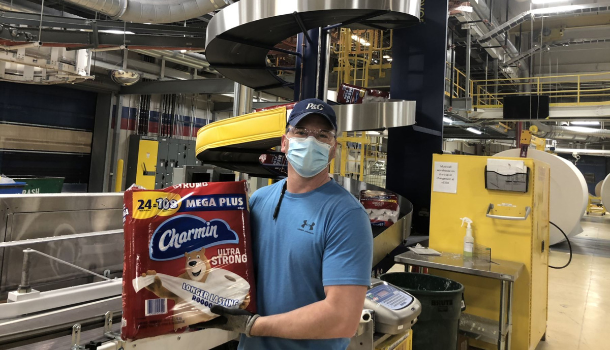 , Despite panic buying, Charmin continues with active production