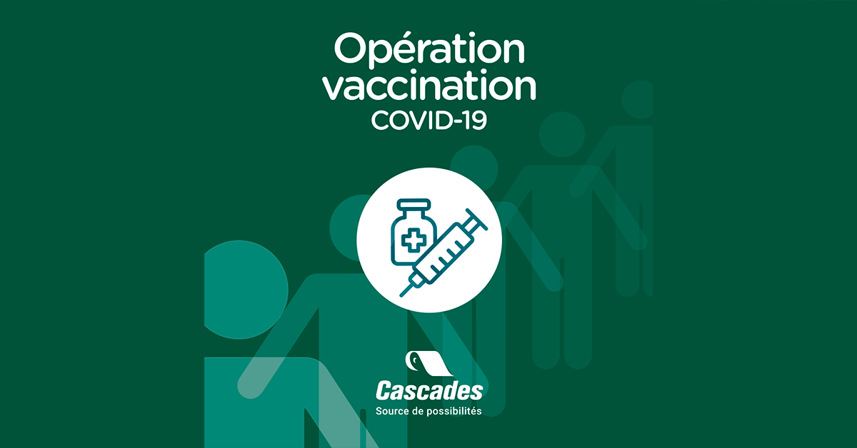 , Cascades to establish COVID-19 vaccination hub in Quebec