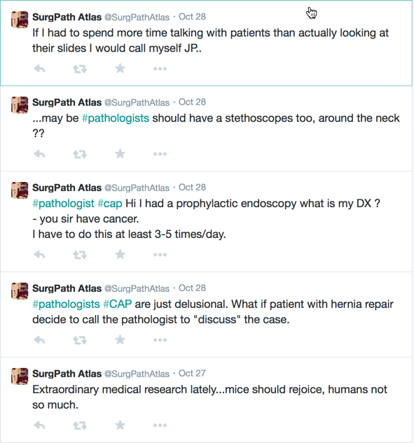 Response To Pathologists Cannot Talk To Patients Fuggedaboutit