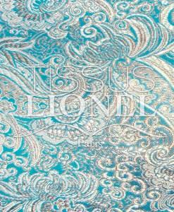 Jacquard lurex Turquoise argent