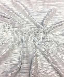 Klinge Plisse Weiß Silber