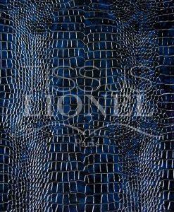Simili Cuir crocodile 2 bleu et noir