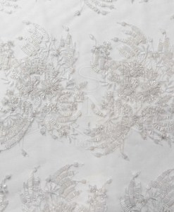 TULLE EMBROIDERED WHITE PEARL 02