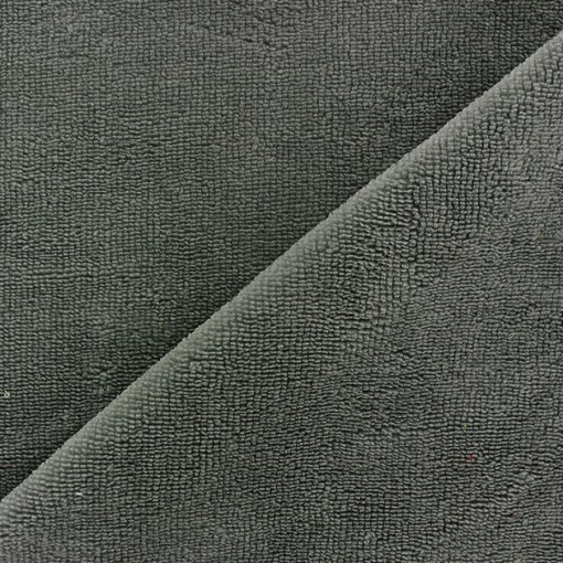 Tissu éponge bambou hydrophile Anthracite