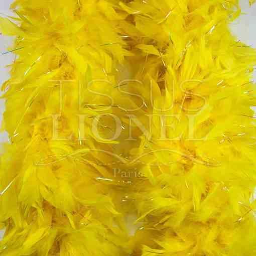 boa avec lurex jaune
