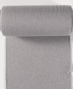 Bord côte jersey tubulaire gris clair