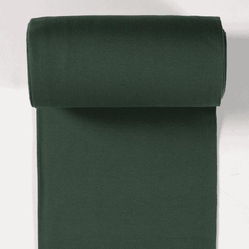 Bord côte jersey tubulaire vert foncé