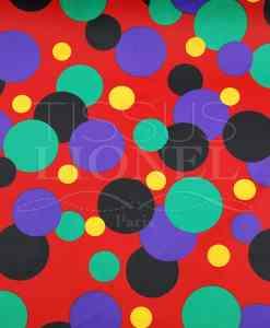 carnaval boules de couleur sur fond rouge