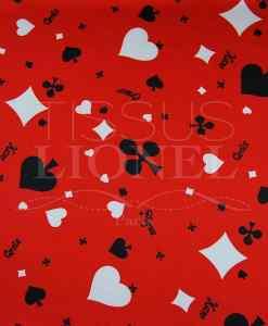 carnaval jeux blanc et noir sur fond rouge