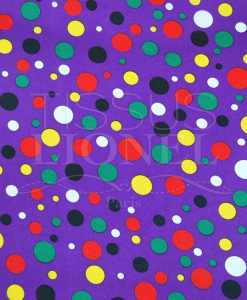 carnaval points multicouleurs sur fond violet
