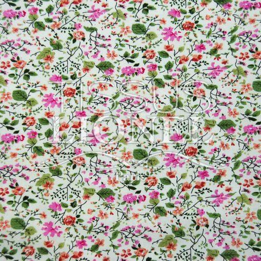 coton imprimé fleurs 016