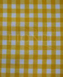 printed yellow gingham cotton 022