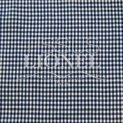 coton imprimé vichy marine 014