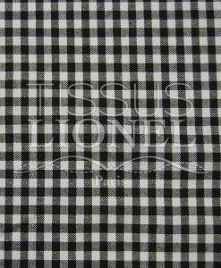 coton imprimé vichy marron 031