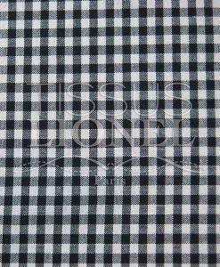coton imprimé vichy noir 033