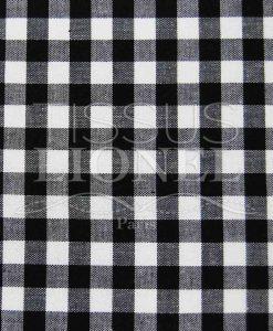 coton imprimé vichy noir 034