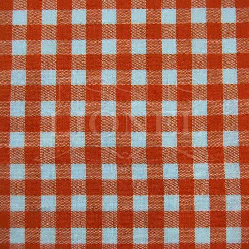 coton imprimé vichy orange 019