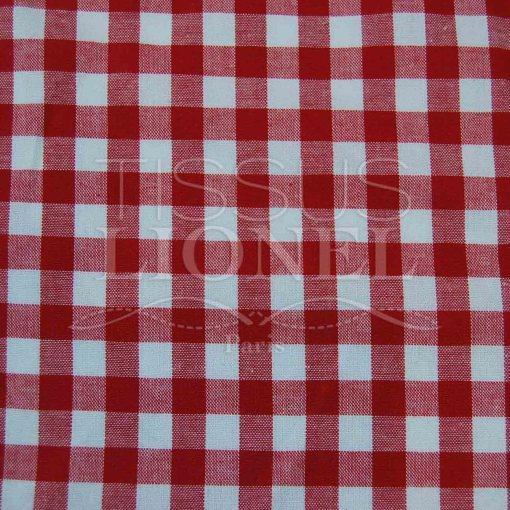 coton imprimé vichy rouge 024