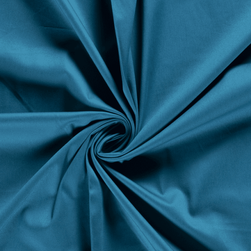 Tissu coton uni premium pétrole