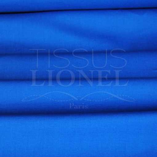 coton uni bleu royal