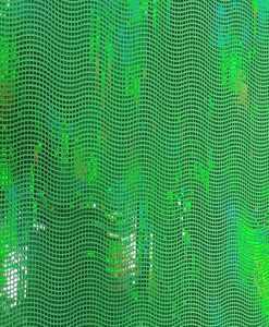 Élasthanne paillete hologramme vert