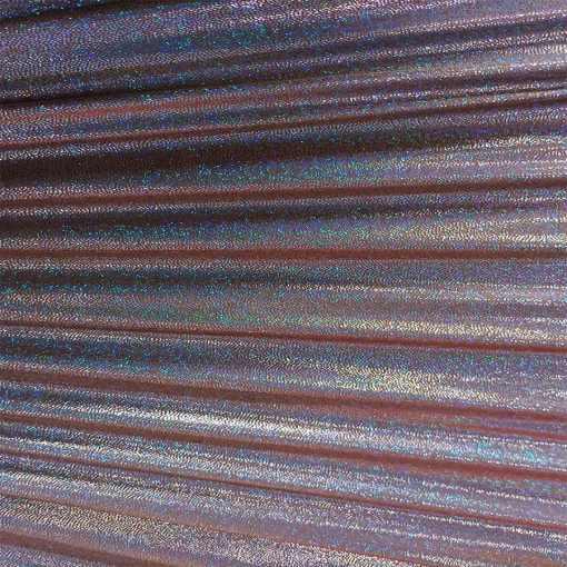 Elasthanne poudre violet hologramme argent