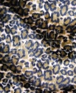 напечатанный мех velboas коричневый тигр