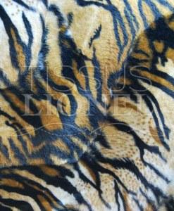 напечатанный мех velboas тигр