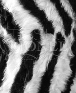 fourrure imprimé zebra noir et blanc