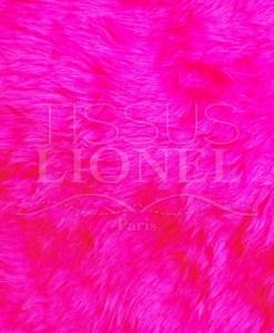 fourrure poil court rose fluo