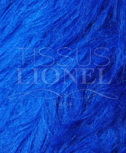 FOURRURE POIL LONG BLEU ROYAL