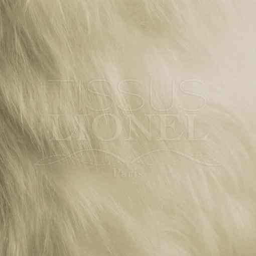 fourrure poil long écru