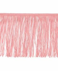 frange 15 cm rose pale