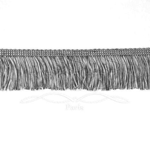 frange 5 cm gris foncé