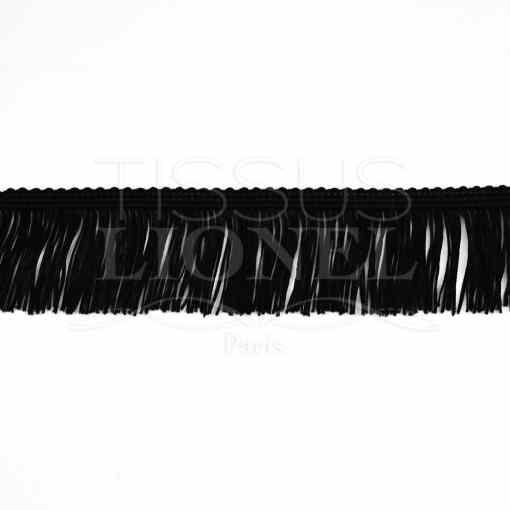 frange 5 cm noir