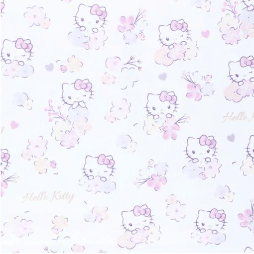 Tissu coton Hello Kitty flower