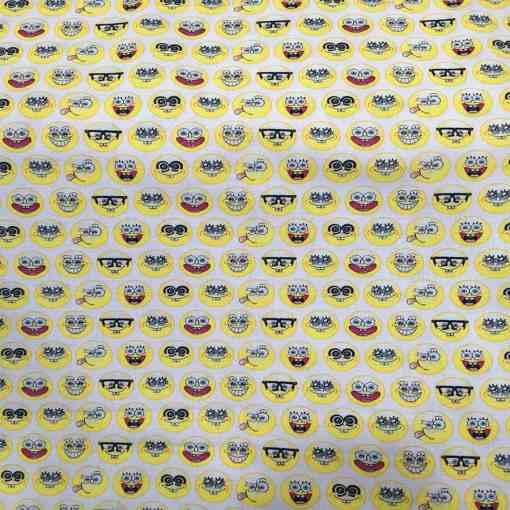 Tissu coton bio Smiley