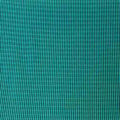 Tissu polyester rayure ton vert