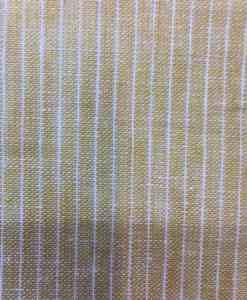 Tissu lin rayure beige