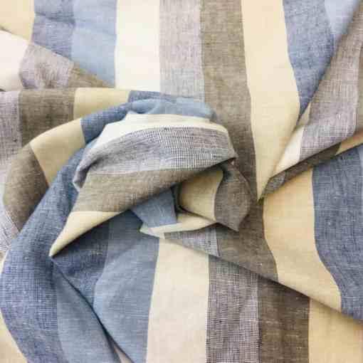 Tissu lin viscose rayure motif 3