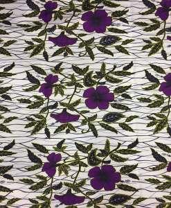 Tissu wax orchidée papillon