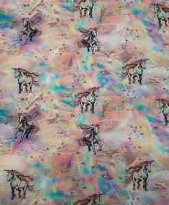 Tissu jersey de coton licorne magic