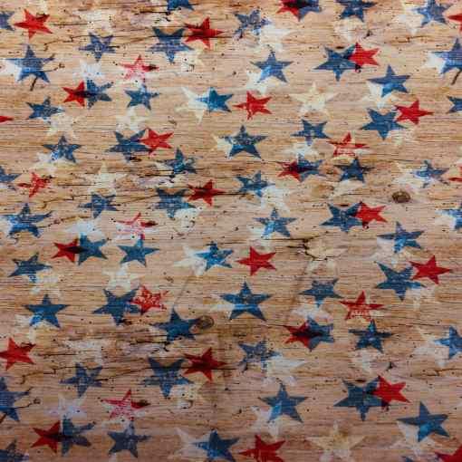 Lycra imprimé étoile vintage