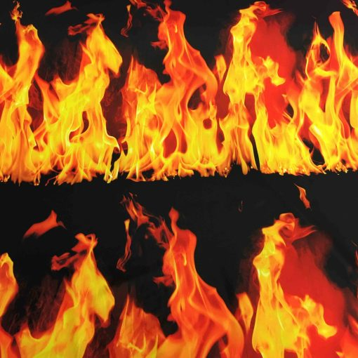 Lycra imprimé feu