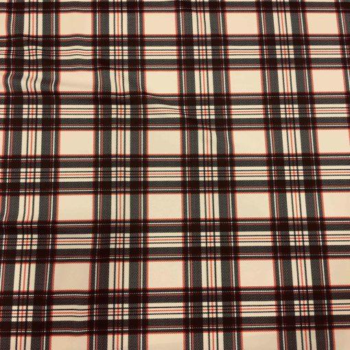 Lycra imprimé motif écossais
