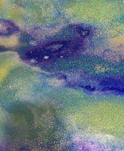 Lycra imprimé pailleté galaxie 2