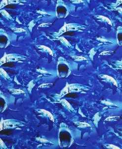 Lycra imprimé requins