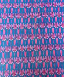 Lycra imprimé tulipe rose